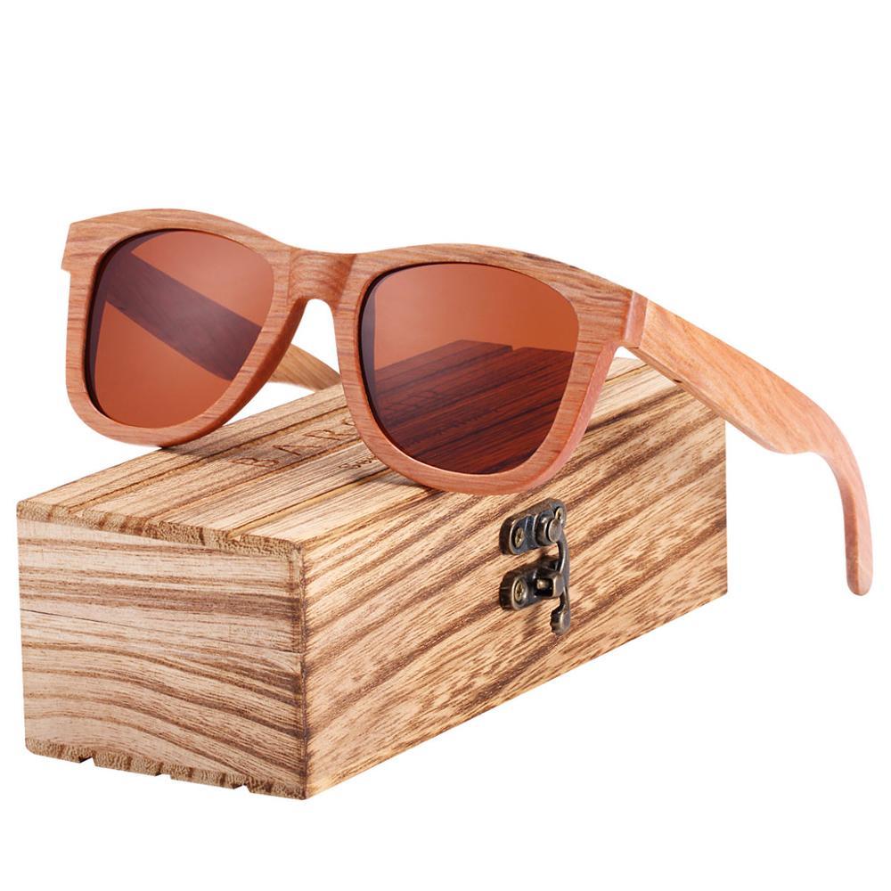 BARCUR Natural Wooden Sunglasses for Men Polarized Sunglasses Wood oculos de sol feminino frete gratis 6
