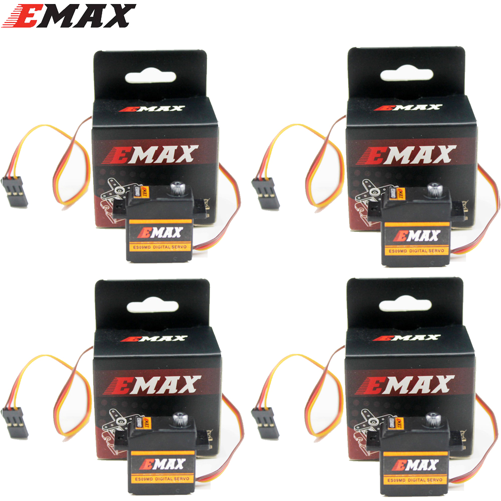 4set EMAX ES09MD Digital Servo Dual-bearing Specific Swash Servo for 450 helicopter plane airplane tail servo f16736 emax es9252hv high voltage digital rotor tail