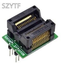 Puce de qualité supérieure programmeur SOP28 adaptateur prise passer DIP28 à SOP16 SOP20 300mil plaqué or