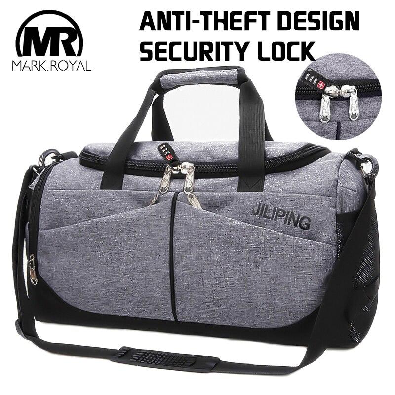 1ed78104f6ff MARKROYAL нейлон для мужчин многофункциональная дорожная сумка Anti-theft  мужские дорожные сумки ручной клади несколько карманов дорожные сумки