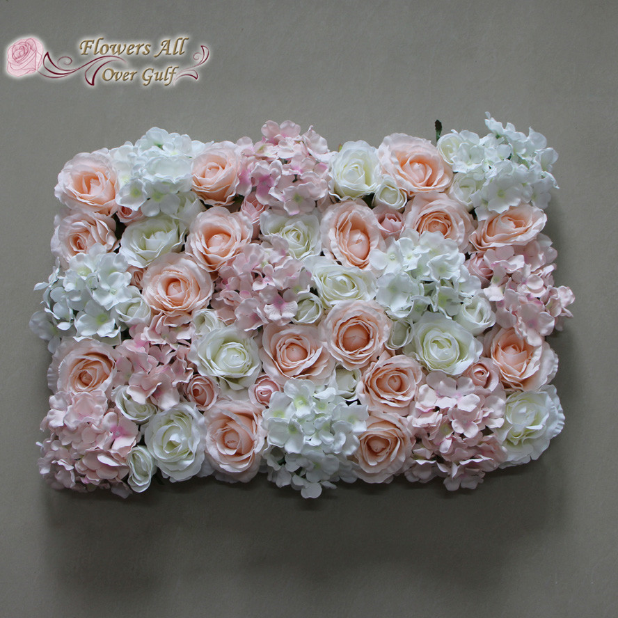 Flowers All Over Gulf Artificial Pink Rose And White Hydrangea