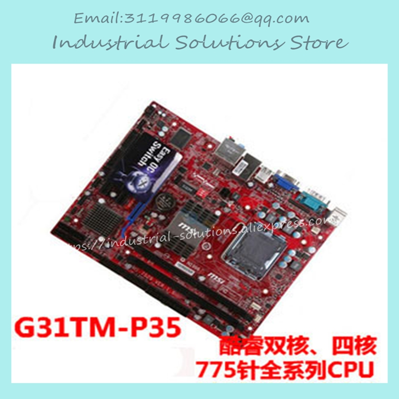 G31tm-p35 A 775 DDR2 USB2.0 VGA g31 motherboard 945 965 g31m-es2l 100% Tested Working g31 ga g31 s3g ddr2 a 775 ddr2 usb2 0 vga motherboard integrated graphics 100% tested perfect quality