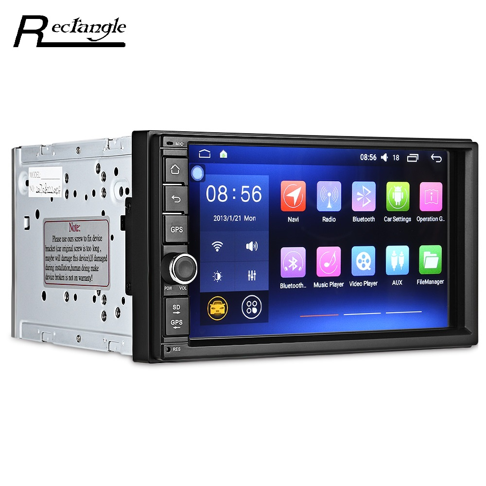 Android 6 0 1 OS Universal Car DVD Player Button Design 7 Inch Multiple Functions Quad