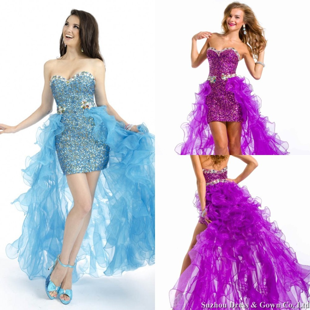 Sexy Sweetheart Sequin Prom Dresses with Detachable Skirt Bead and ...