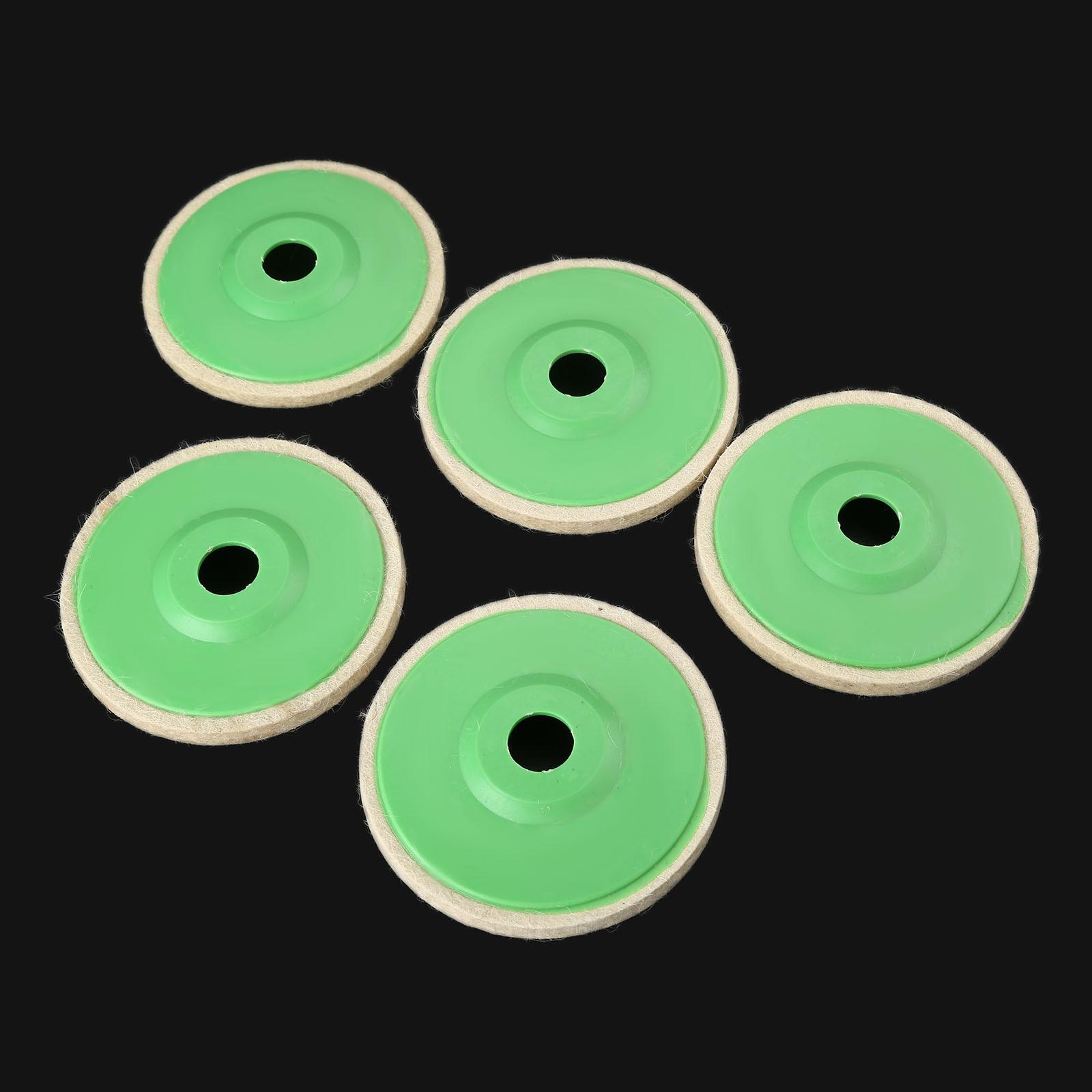 DRELD 5Pcs 5 Inch 125mm Polishing Wheel Wool Felt Buffing Angle Grinder Wheel Polishing Disc For Metal Marble Dremel Accessories