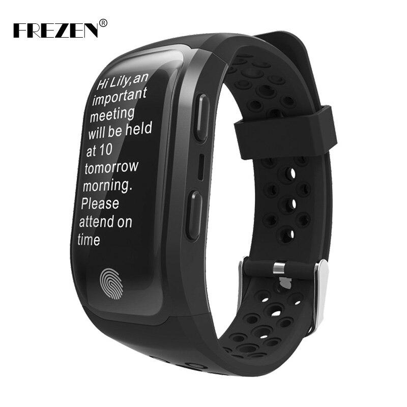 FREZEN S908 Smart Bracelet IP68 Waterproof Bluetooth GPS Tracker Wristband Heart Rate Monitor Fitness Tracker Smart Band S908