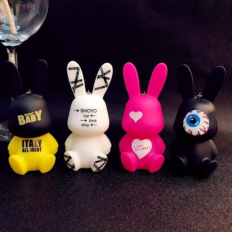 Брелок для ключей с мультяшным животным, милый кролик, Женский кошелек, сумка для ключей, аксессуары, брелок с подвеской в виде зайчика, автомобильные брелки, оптовая продажа