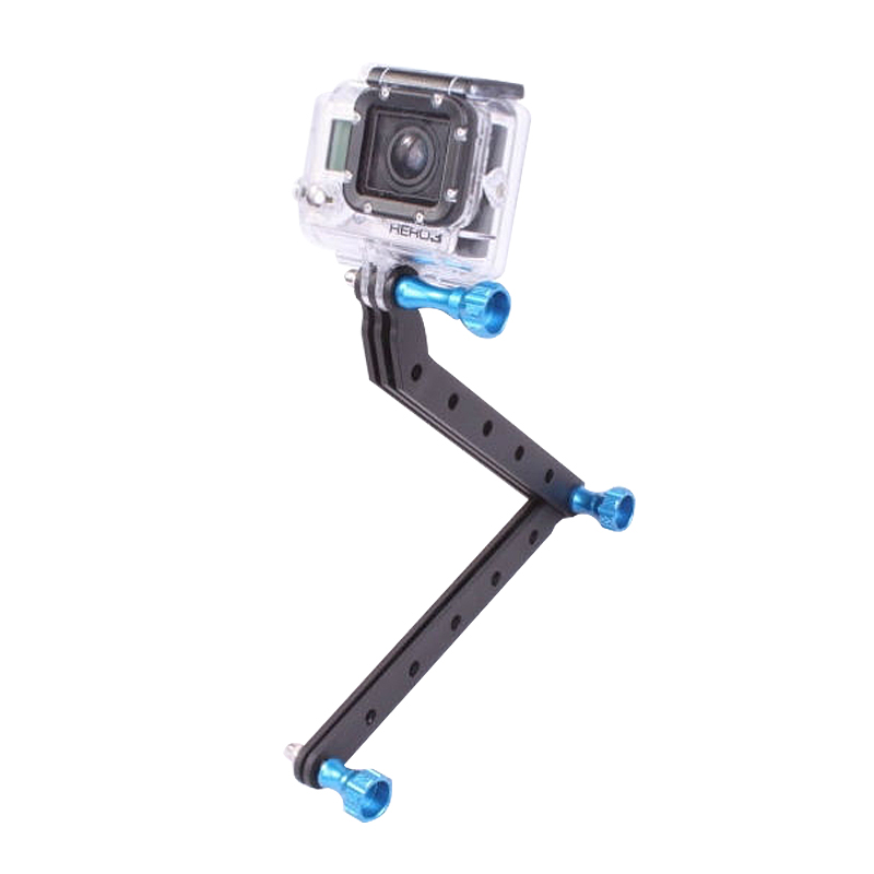 CNC Machining Aluminum Alloy Extension Arm with Screws For Gopro 5 /4/3 Hero3 for xiaoyi for Gitup Camera Accessories