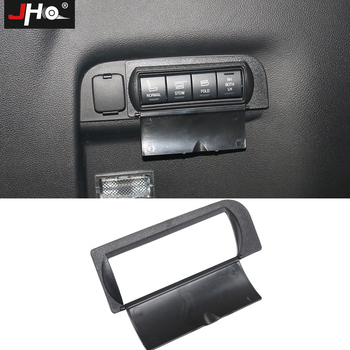 цена на JHO ABS Protective Cap Cover for Rear Trunk Buttons For Ford Explorer 2011-2018 2012 2013 2014 2015 2016 2017 Car Accessories