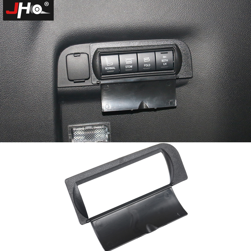 JHO Car Styling Accessories Protective Cap Cover for Buttons in Trunk Fit For Ford Explorer 2013 2014 2015 2016 2017