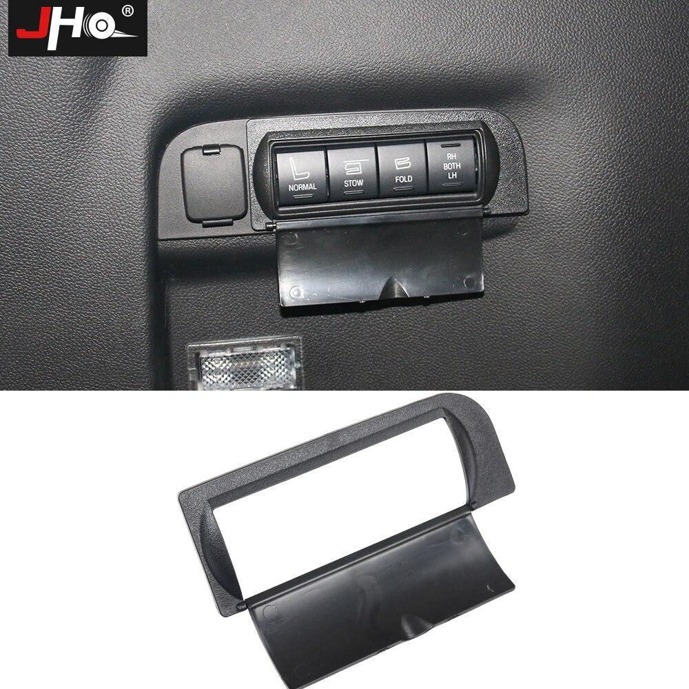 Jho abs capa protetora para botões tronco traseiro para ford explorer 2011-2018 2012 2013 2014 2015 2016 2017 acessórios do carro
