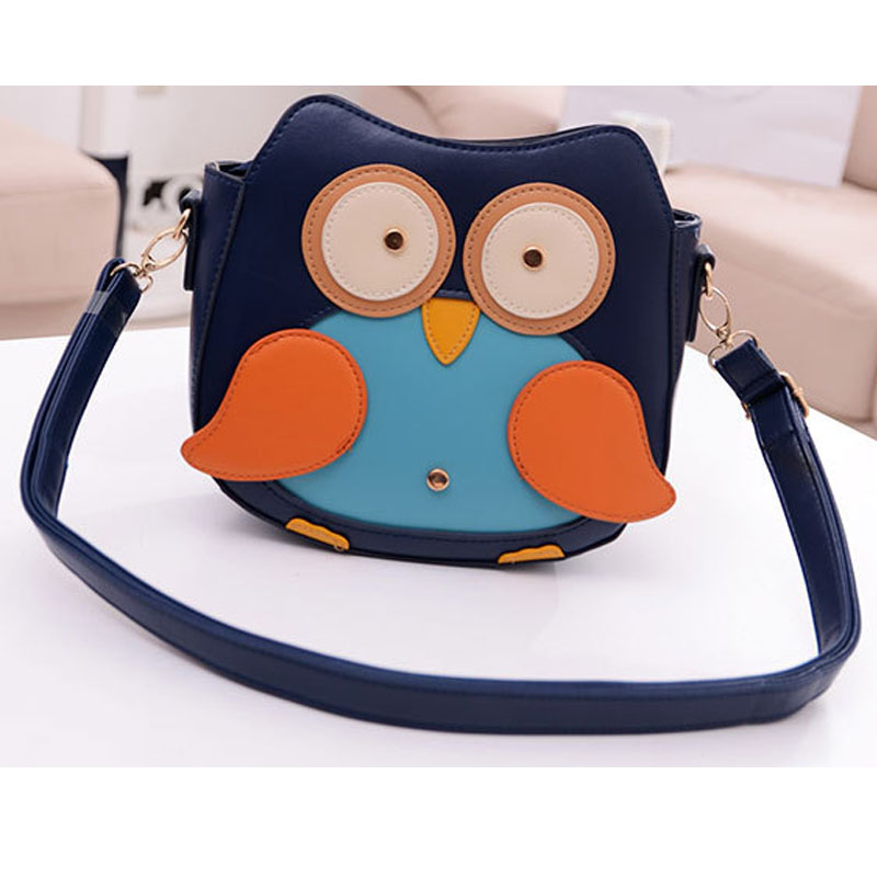 2015 fashion PU womens leather handbag cartoon bag owl shoulder bags crossbody bag women women messenger