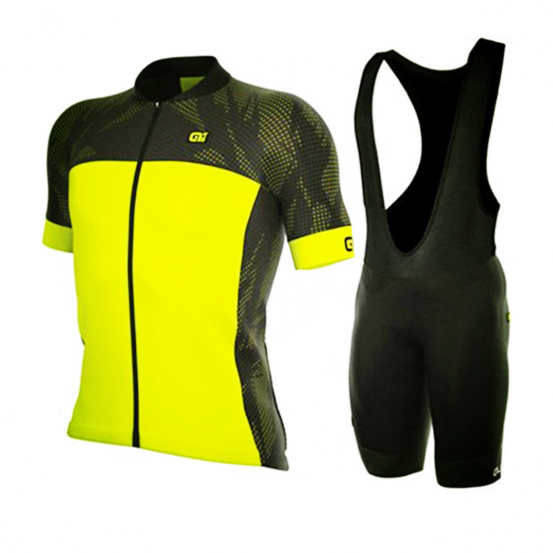 Ropa ciclismo 2018 Pro team short sleeve Jersey Summer road bike riding movement clothing Breathable Team ALE cycling Jersey