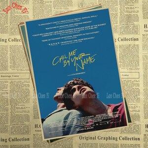 Image 5 - Call Me by Your Name Kraft Paper adornos de pared de papel, carteles para el hogar, Bar, decoración del hogar, regalo, decoración de pared para el hogar, pegatina