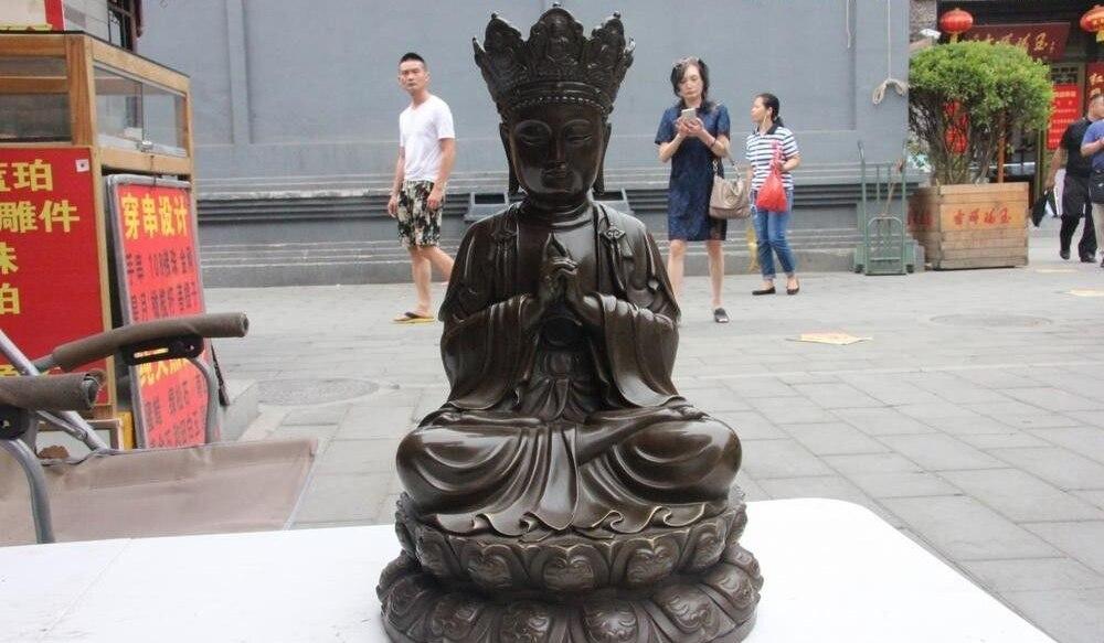 Tibet Folk Buddhism Copper Bronze Sakyamuni Shakyamuni Tathagata Amitabh Buddha