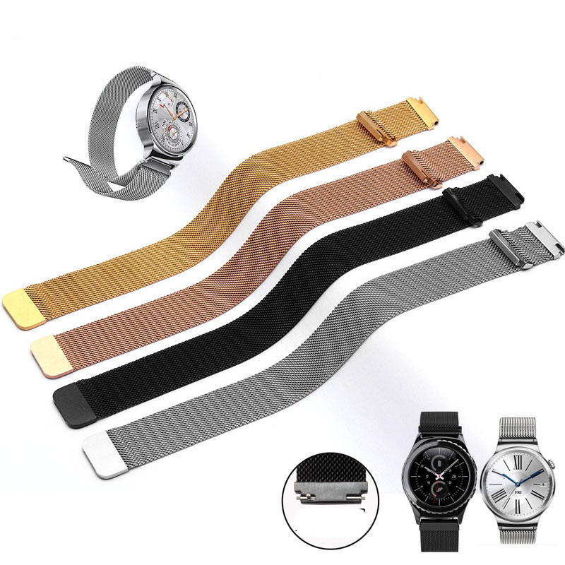18mm 20mm 22mm Milanese Loop Strap Stainless Steel Watch Band Bracelet for Samsung Gear S2 Classic (SM-R7320) Moto 360 2nd Gen 2017 new stainless steel bracelet strap watch band milanese magnetic with connector adapter for samsung gear s2 watch band
