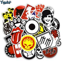 50 Pcs Rock & Roll Aufkleber Punk Aufkleber für Laptop Skateboard Motorrad Auto Gepäck Vinyl Aufkleber Graffiti Wasserdicht Aufkleber