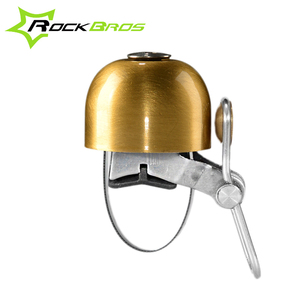 RockBros Bicycle Bell Retro Stainless Bike Bell Easy Install Cycling Bike Horn For Safety Bike Ringer Handlebar Metal Ring