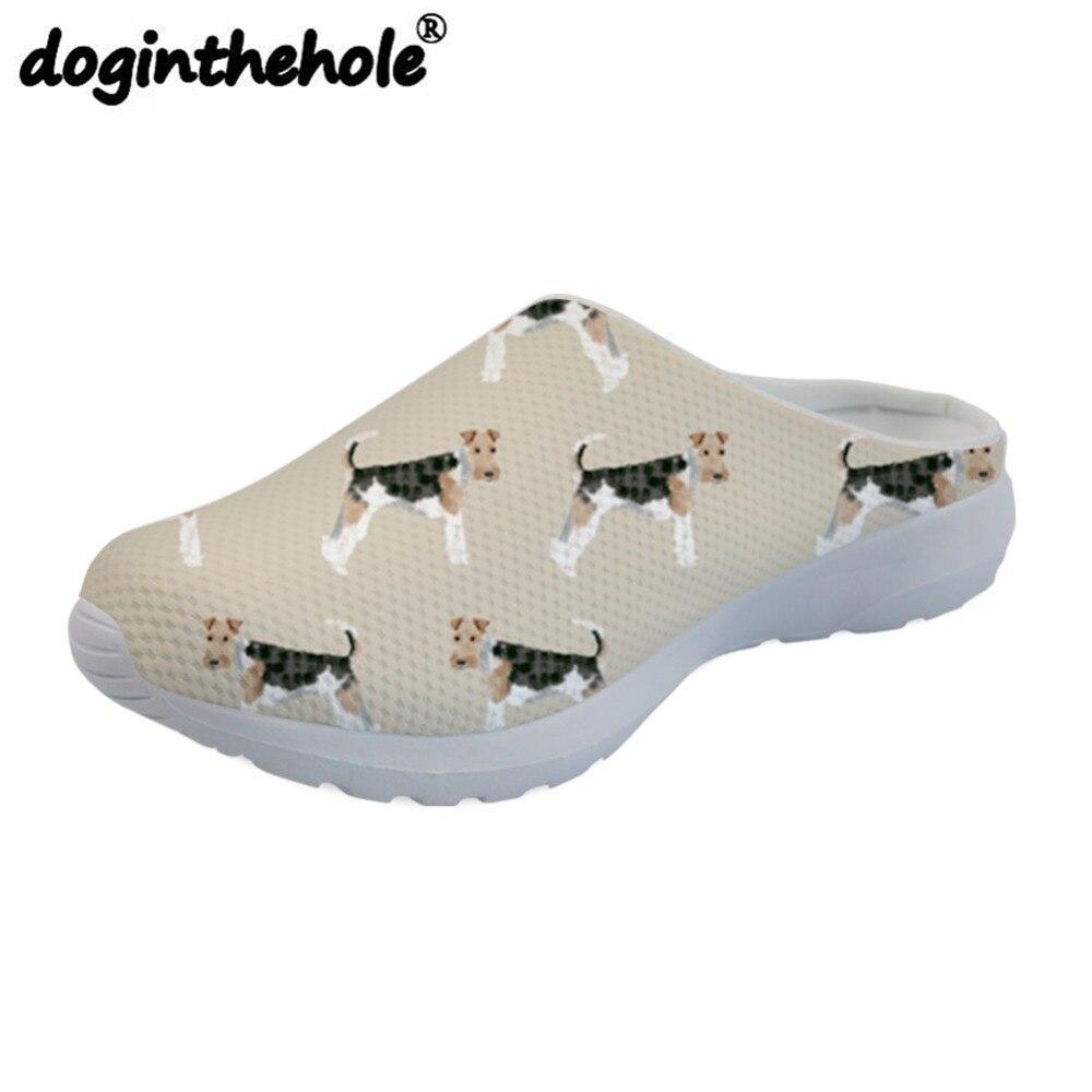 Doginthehole zapatos de playa para mujer sandalia deportiva alambre Fox Terriers patrón de perro zapatillas al aire libre deporte para niñas mujer transpirable HXJJP 2019 invierno nuevo alce Navidad rojo mujeres suéter de manga larga con cuello redondo Mujer suelta Retro tejido Jersey