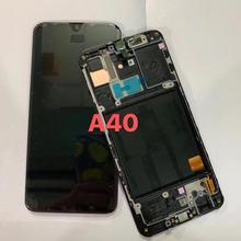 الأصلي لسامسونج غالاكسي A40 SM A405F شاشة lcd استبدال الشاشة لمجرة A40 A405 A405F شاشة lcd