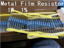 50 шт. 1 Вт металла Плёнки резистора +-1% 1 Вт 1R 1 Ом Бесплатная доставка