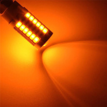 4 шт./1 шт. Автомобильный задний светильник s рулевое управление тормозной сигнал мигание Янтарный 12 В 1156PY BAU15S PY21W светодиодный 33SMD тормозной рулевой светильник