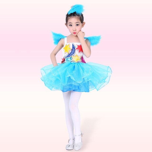230b2fc45 Children Saia Ballerine Stage Show Dancewear Lovely Jazz Modern Tutu ...