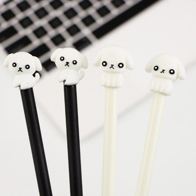 2pcs/lot Creative 0.5mm Puppy gel pen writing pen school office supplies kids school gift Kawaii stationery Gel pen