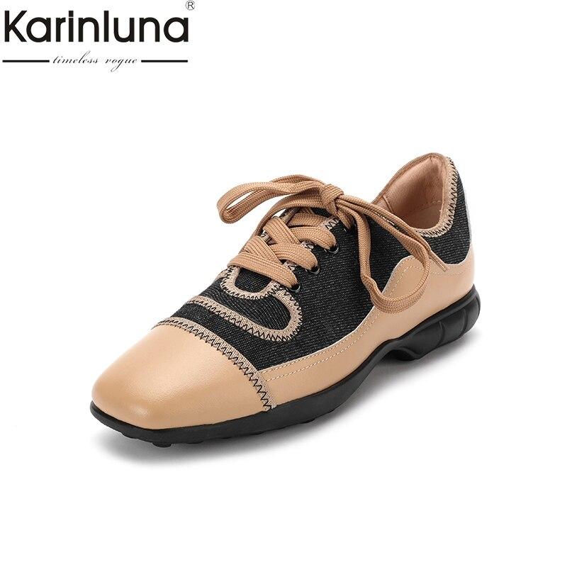 Dame Confortable D'âge Kaki Mûr Karinluna Neuf 2019 Classiques Flambant Grande Chic De Taille Chaussures Femmes Style 40 88wxgSO
