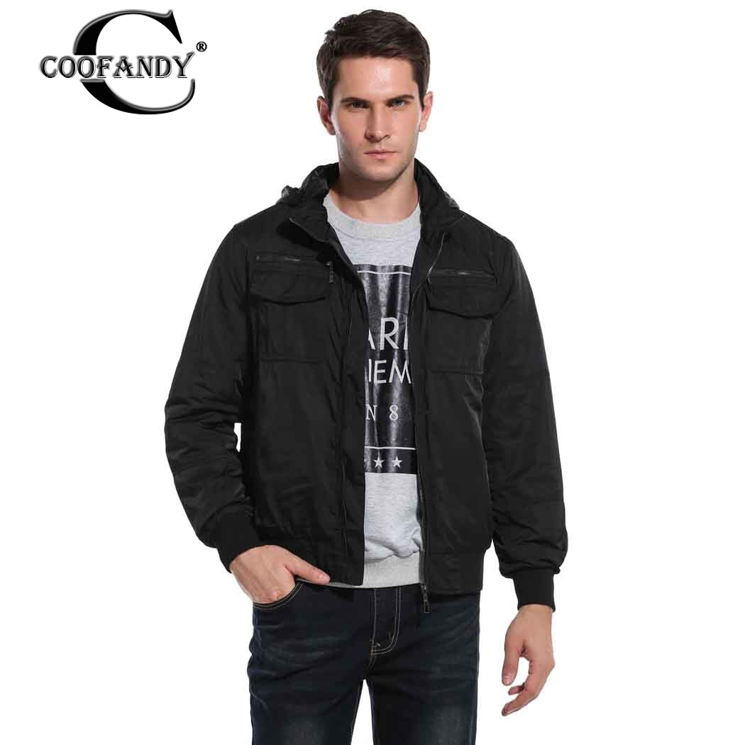 COOFANDY New Arrivals Men Casual Wear Turn Down Collar Zip Up Solid Slim Quilted <font><b>Bomber</b></font> <font><b>Jacket</b></font>