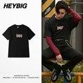 2016 nova Queda Coreano Tee Impressão camisas Rapper hiphop HEYBIG Masculino Camisetas Dragão Impresso Tops de algodão Roupas Asian TAMANHO S-3XL