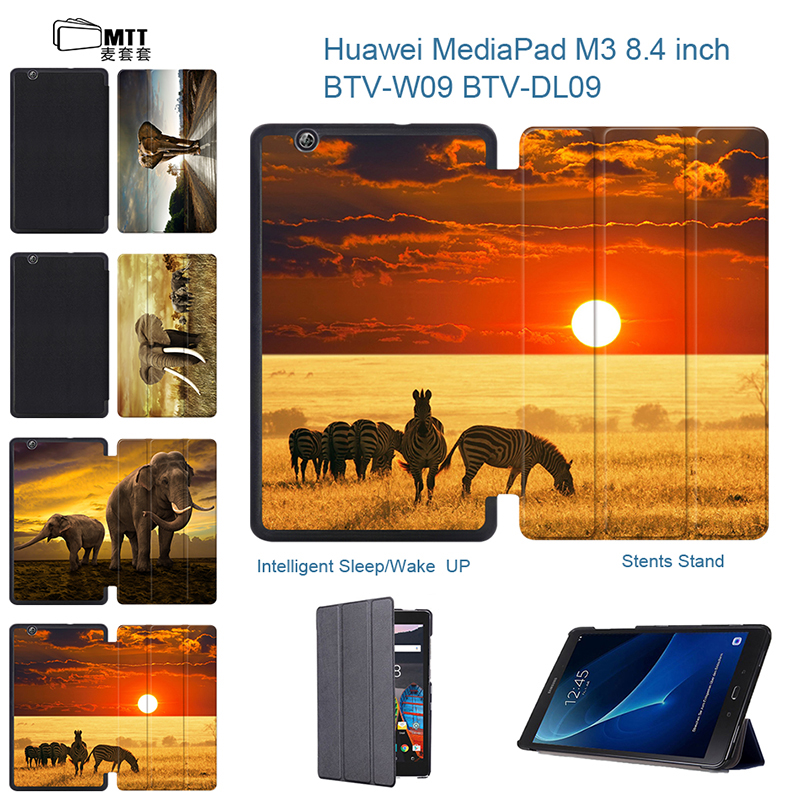 MTT Elephant Painting PU Leather Cover Case For Huawei Media Pad M3 8.4 Coque Cases for Huawei Media Pad M3 8.4 inch Tablet Skin case cover for