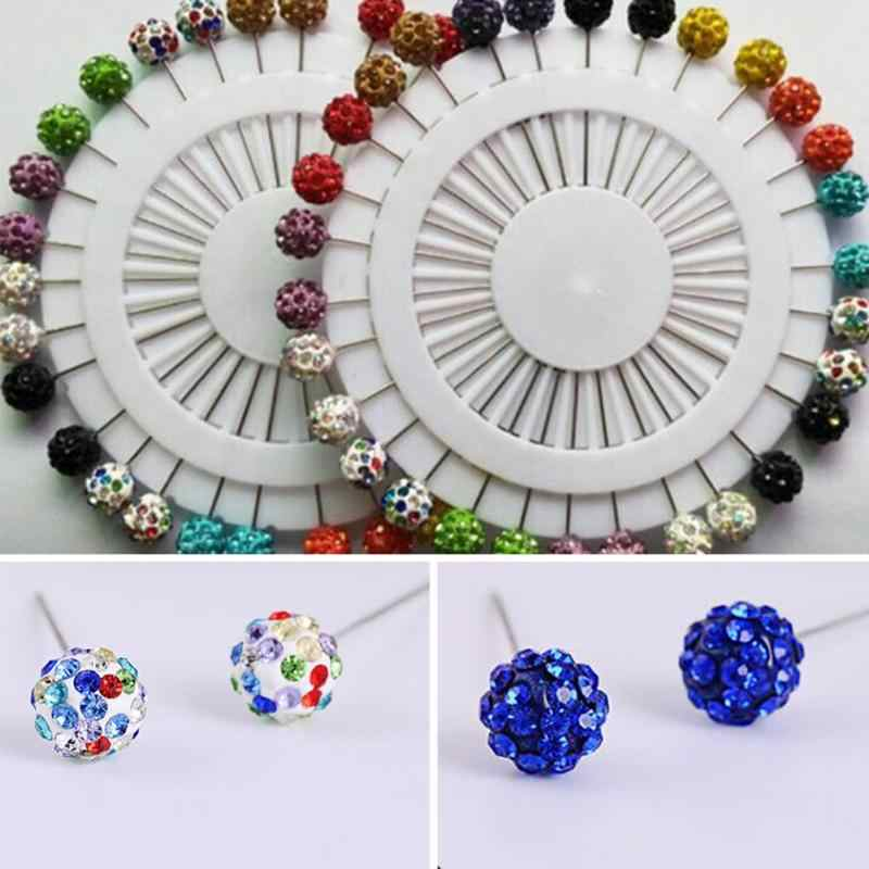 10 Pcs/lot Muslim Women Hijab Rhinestone Brooches Hood Scarf Pins Accessories Random Color