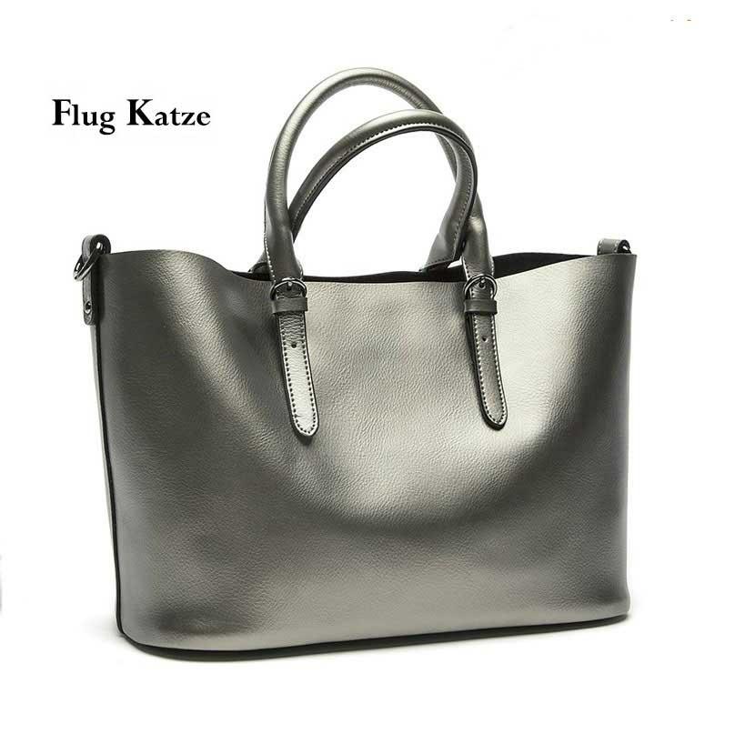 Women bienes bolso de cuero grandes Bolsas de hombro diseñador Vintage  tote bag