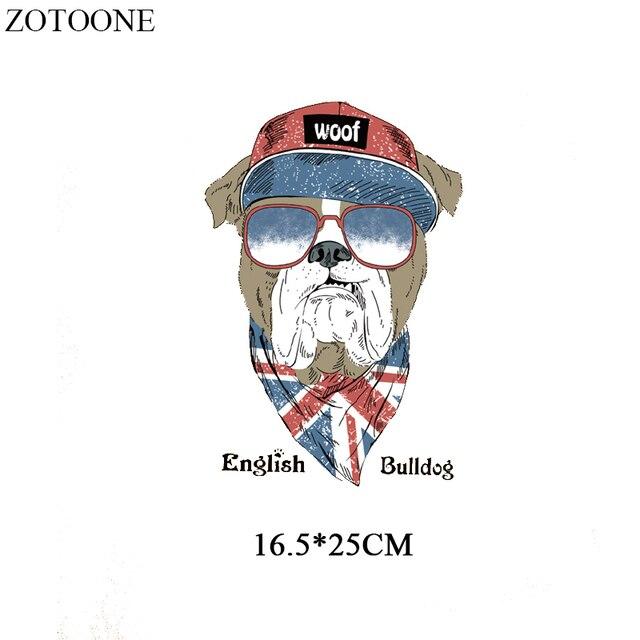 foto de ZOTOONE Cartoon English Bulldog Heat Transfer Vinyl Animal Patches ...