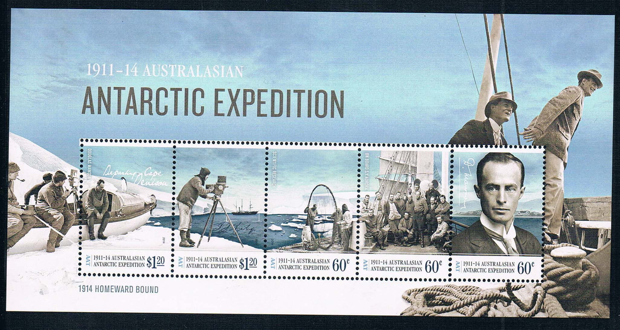цена на C1915 Australian Antarctic Territory 2014 Antarctic expedition 1MS new 0626