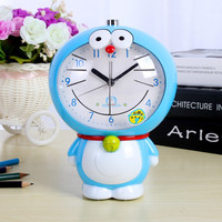 Table Watches Cube Cat Frog Silent Electronic Battery Alarm Clocks Cartons Alarm Clock Led Nightlight Snooze Timer