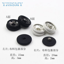 YJHSMY 179261,10pcs/Lot,fashion black and white 22mm cloth metal buckle DIY accessories Coat button