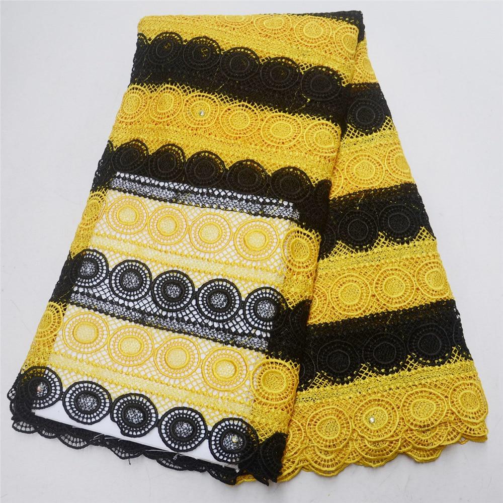 코드 레이스 직물 2019 아프리카 직물 tissu guipure 오트 qualite 나이지리아 레이스 직물 ankara 바느질 레이스 5 yard/lotbf -에서페브릭 장식부터 홈 & 가든 의  그룹 2