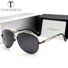TONSONYA Aviador Diseñador de la Marca de Moda gafas de Sol Polarizadas de Los Hombres Gafas de Sol Hombre de Lujo Masculino Gafas Lentes Luneta Masculina