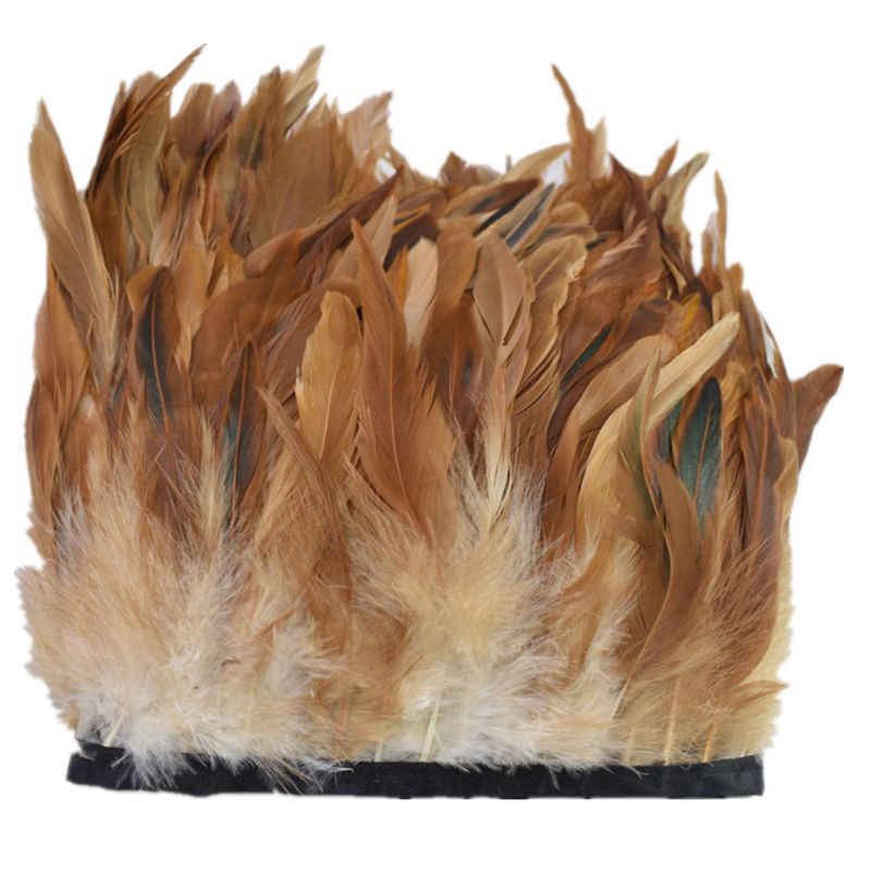 1 야드 치킨 닭 깃털 리본 프린지 트림 바느질 diy 깃털 공예 장식 깃털 보석 만들기 plumas