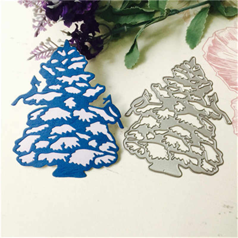 New Metal Cutting Dies Stencils DIY Snowflake Christmas Tree Christmas Letter Print Scrapbooking Album Paper Card Craft 2019#40