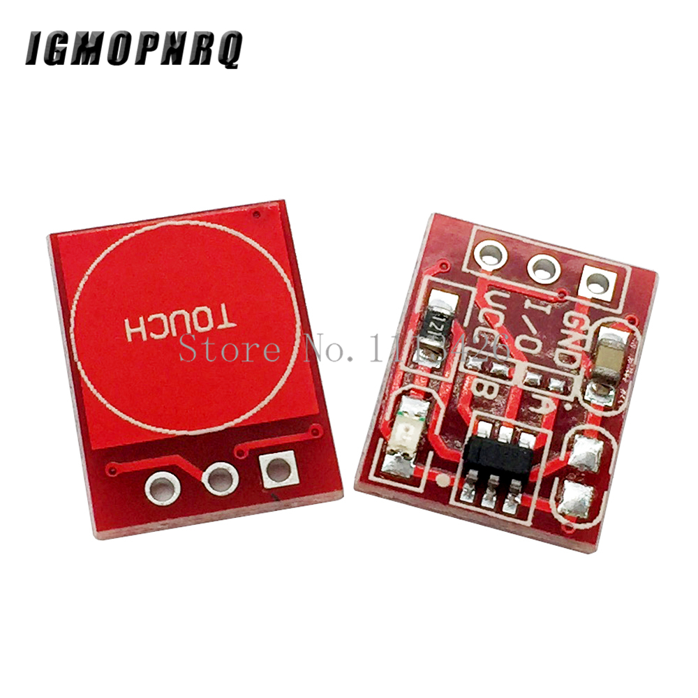 10PCS/LOT NEW TTP223 Touch button Module Capacitor type Single Channel Self Locking Touch switch sensor10PCS/LOT NEW TTP223 Touch button Module Capacitor type Single Channel Self Locking Touch switch sensor