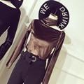 Единорог Полный Топ Мода Спандекс Велюр Вершины Tumblr 2017 Новый Полый С Длинными рукавами с Высоким воротником Рубашки Дна Самостоятельно-выращивание