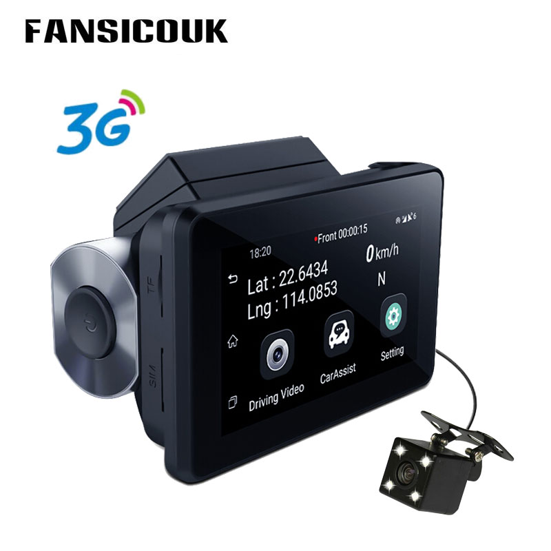 FANSICOUK 1080P Auto Registrar Camera 512MB 4GB Android 5 0 3G WiFi Dual Lens GPS Tracker