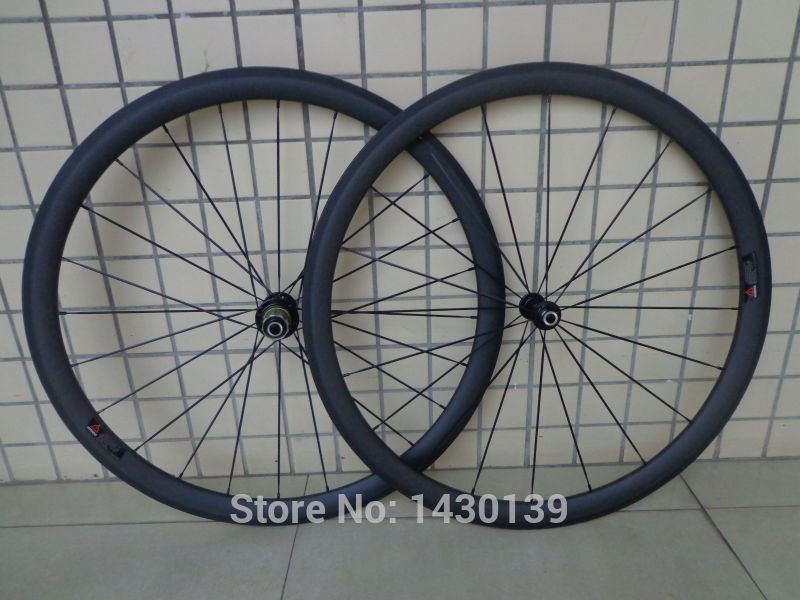 New 700C 38mm clincher rims Road bicycle aero matt UD full carbon fibre bike wheelsets lightest 20.5 23 25mm width Free shipping