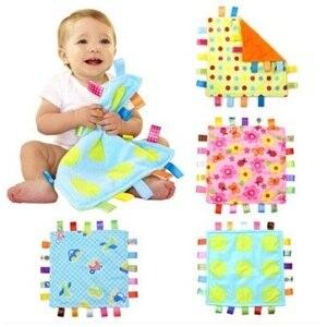 """Image 1 - 7 סגנון 30 ס""""מ תינוק מנחם Taggies שמיכת סופר רך כיכר קטיפה תינוק לפייס מגבת תינוק צעצועים"""