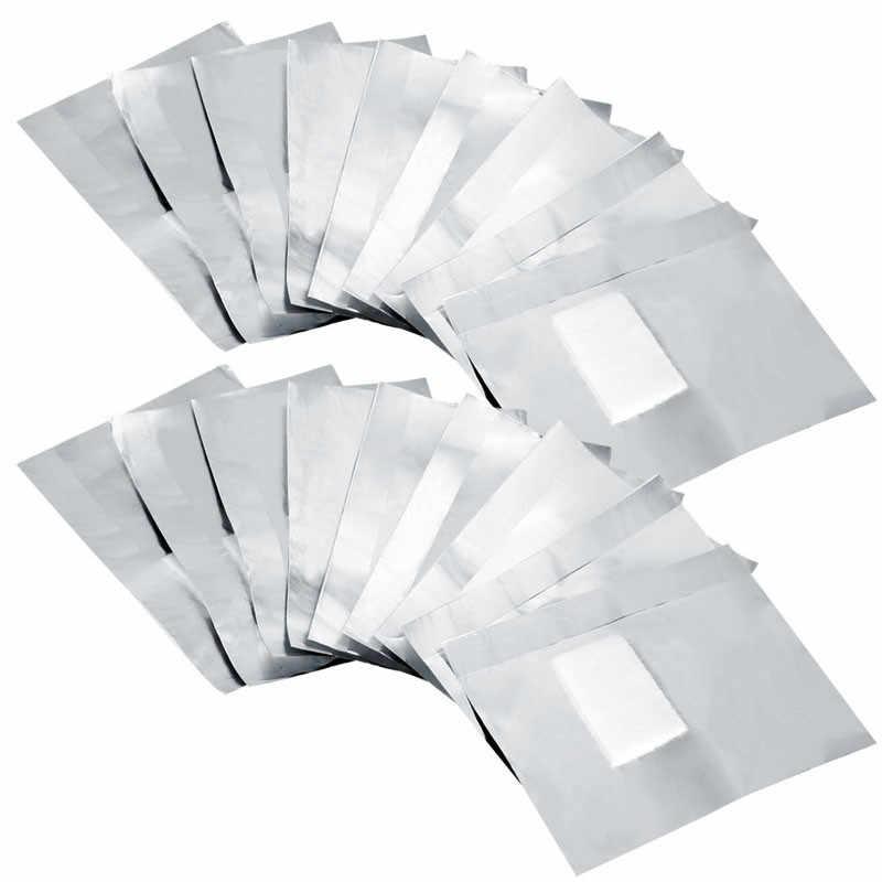 100Pcs Aluminium Foil Remover Wraps Met Aceton Nail Art Losweken Acryl Gel Nagellak Verwijderen