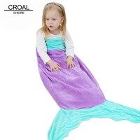 Fashion Robe Bathrobe Kids Mermaid Poncho Hooded Towel Children Bath Robe Cute Mermaid Sleeping Bag Cotton Sleepwear For Girls