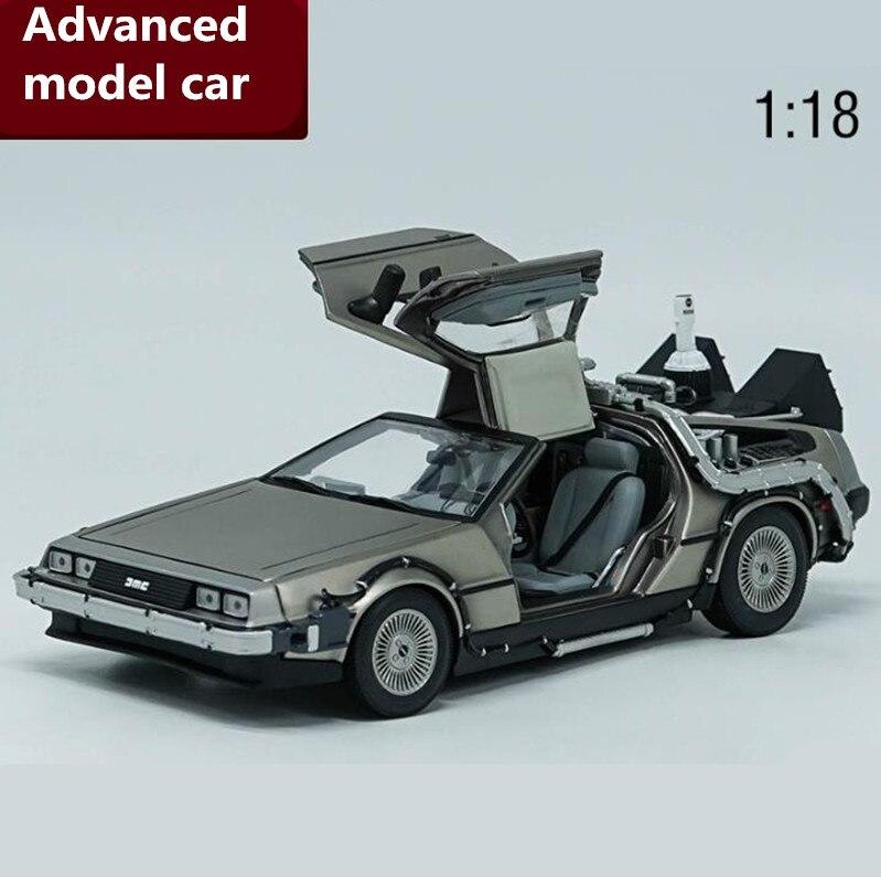 1:18, передовая модель автомобиля из DeLorean сплава, литая под давлением металлическая модель автомобиля, высокое качество коллекции